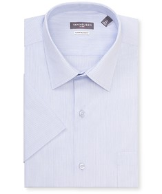 Classic Relaxed Fit Short Sleeve Shirt Textured Stripe