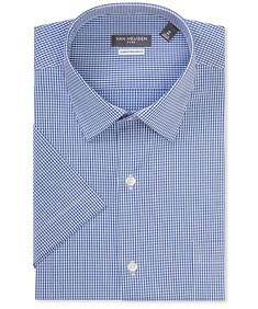 Short Sleeve Shirt Navy Tone Check