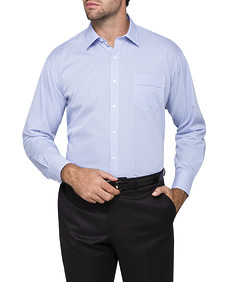 Mens Classic Fit Shirt Blue Multi Check