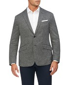Casual Blazer Grey Black Textured