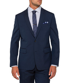 Euro Tailored Fit Suit Jacket Navy