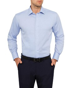 Van Heusen Mens Euro Fit Solid Coloured Shirt