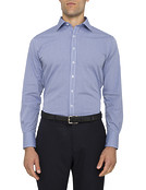 Mens Euro Fit Shirt Navy Multi Check