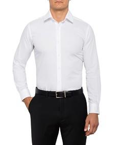 Mens European Fit Shirt White Diagonal Print