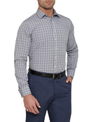 Mens Classic Fit Shirt Black Check