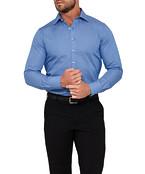 Mens Euro Fit Shirt Royal Blue Stripe
