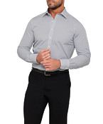 Mens Euro Fit Shirt White with Black Dot Print
