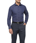 Mens Euro Fit Shirt Navy with White Spec Design