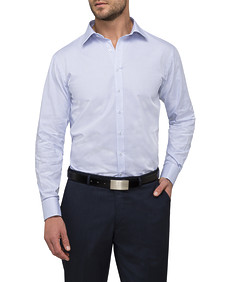 Mens Euro Fit Shirt Blue Square Design