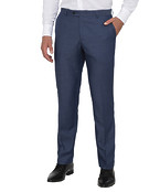 Mens Euro Fit Trousers Blue Nailhead