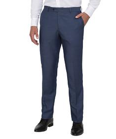Mens Euro Fit Trousers Blue Nailhead