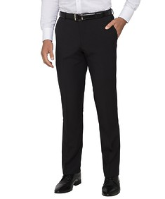 Euro Tailored Business Trousers Black Self Stripe