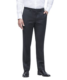 Euro Tailored Fit Suit Pant Charcoal Dobby