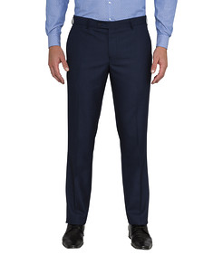 Men's Euro Fit Business Trousers Ink Check