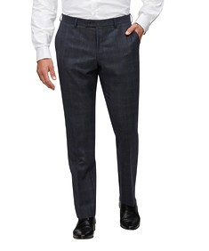 Euro Tailored Fit Suit Pant Navy Diamond Texture