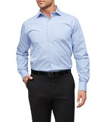 Euro Tailored Fit Shirt Blue Classic Check