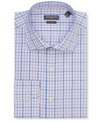 Euro Tailored Fit Shirt Blue Purple Gingham