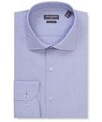 Euro Tailored Fit Shirt Denim Subtle Print
