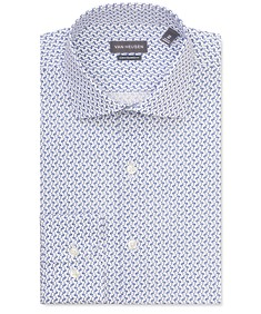 Euro Tailored Fit Shirt Blue Flamingo Print
