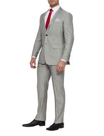Mens Euro Fit Nested Suit Grey Sharkskin