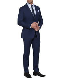 Mens Euro Fit Nested Suit Dark Teal Textured