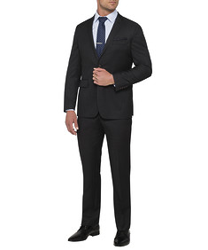 Mens Euro Fit Nested Suit Solid Charcoal