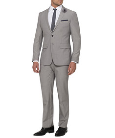 Mens Euro Fit Nested Suit Light Grey