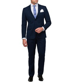 Men's Euro Fit Nested Suit Navy Fine Self Check