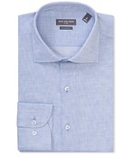 Euro Tailored Fit Shirt Blue Tile Check