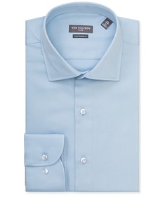Euro Tailored Fit Shirt Basic Blue Textured