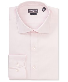 Euro Tailored Fit Shirt Pink Textured