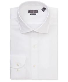 Euro Tailored Fit Shirt White Textured Dobby