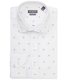 Euro Tailored Fit Shirt White Flag Print
