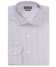 Euro Tailored Fit Shirt Purple Geometric Circles