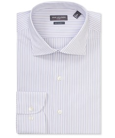 Euro Tailored Fit Shirt Two Tone Stripe