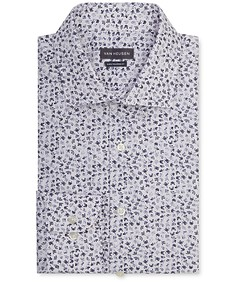 Euro Tailored Fit Shirt Indigo All Over Print