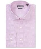 Euro Tailored Fit Shirt Pink Geometric Diamonds