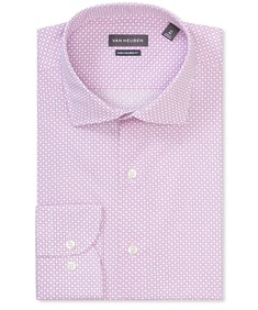 Euro Tailored Fit Shirt Pink Geometric Diamonds