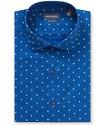 Euro Tailored Fit Shirt Deep Navy Flower Print