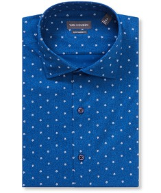 Euro Tailored Fit Shirt Deep Navy Flower Print
