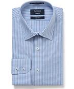 Van Heusen Mens Euro Fit Shirt Blue Small Check