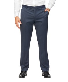 Euro Tailored Fit Business Trousers Ink Diamond