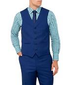 Van Heusen Mens Euro Fit Suit Vest Cobalt