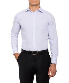 Mens European Fit Shirt Mauve Check