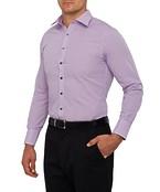 Mens European Fit Shirt Pink Black Medium Check