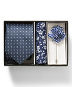 Gift Pack Neck Tie, Pocket Square and Lapel Pin