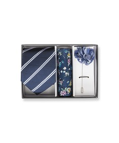 Gift Pack Tie Pocket Square and Lapel Pin