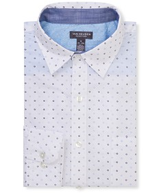 Never Tuck Slim Fit Long Sleeve Shirt Circle Print