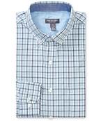 Never Tuck Slim Fit Long Sleeve Shirt Small Plaid