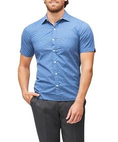 Never Tuck Slim Fit Short Sleeve Shirt Floral Print